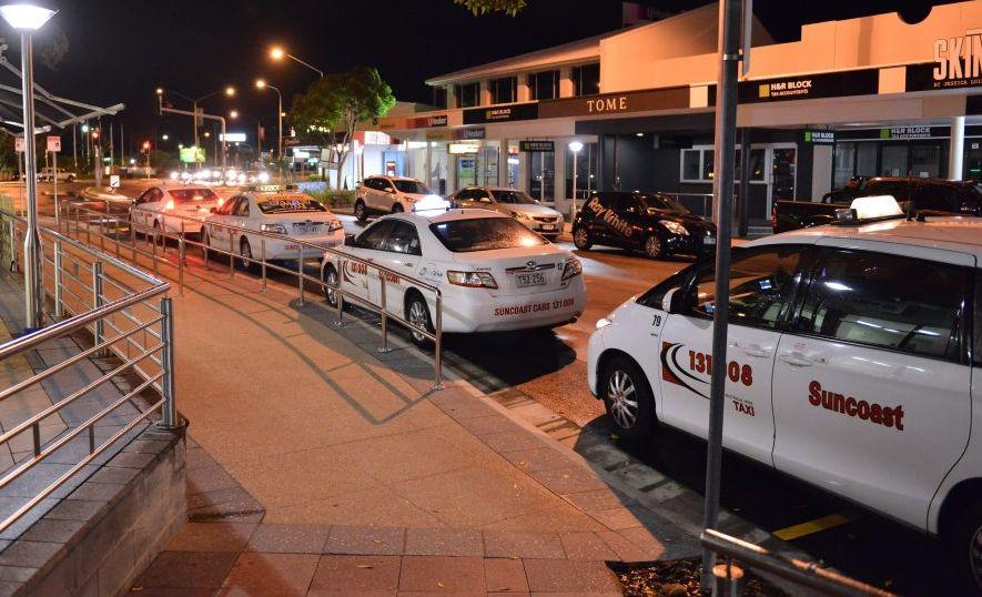 Ocean Street cab, taxi rank, Maroochydore. Photo Patrick Woods / Sunshine Coast Daily