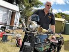 Ross Inman, of Bundaberg, with his Melbourne-made 1916 GCS.