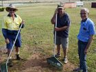 TEAM EFFORT: Racing Queensland track supervisor Trevor Woodham, volunteer Ray Armstrong and Yeppoon Turf Club president Greg Simpson are looking forward to this month's race meet after undertaking a huge clean-up effort after Cyclone Marcia.