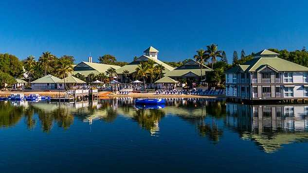 The Twin Waters Novotel Resort is nestled beside the pristine Maroochy River and north shore beach. The four star resort features a bar, restaurant, gym and pool.