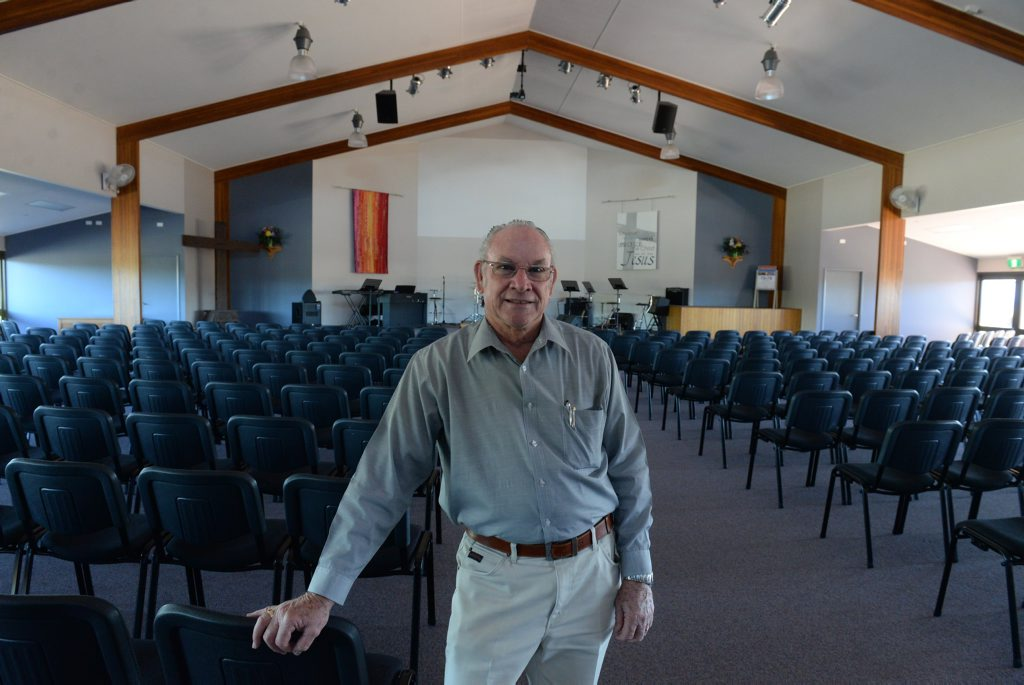 CHURCH ANNIVERSARY: Pastor Al Loder from the Bundaberg Baptist Church which is celebrating its 70th anniversary. Photo: Mike Knott / NewsMail