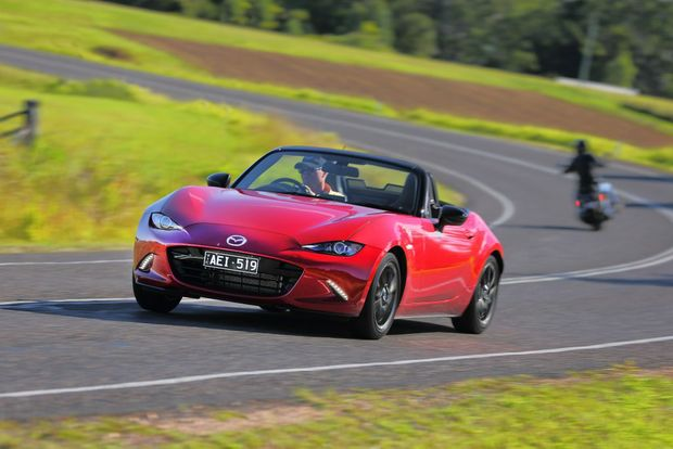 WELL BALANCED: Despite just 96kW from its naturally aspirated 1.5-litre the MX-5's light weight and chassis setup means it rewards eager drivers.