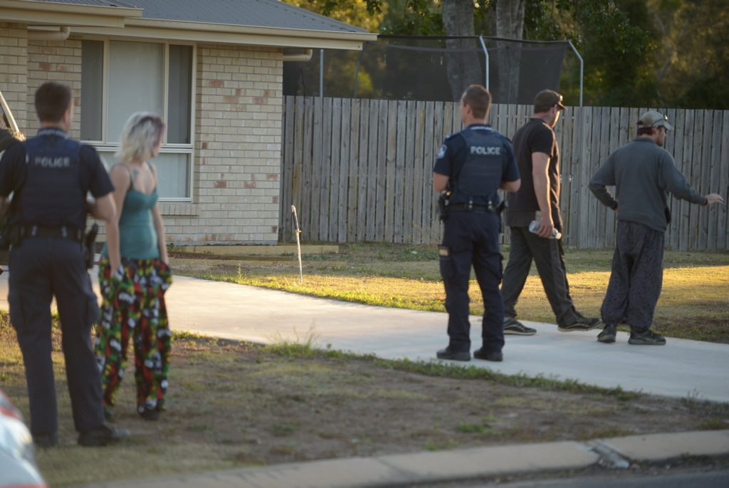 POLICE CALLED: Police were called to an incident at Monarch Avenue in Moore Park Beach on Thursday, 6 August 2015, where a number of residents were allegedly involved in an altercation. Photo: Max Fleet / NewsMail