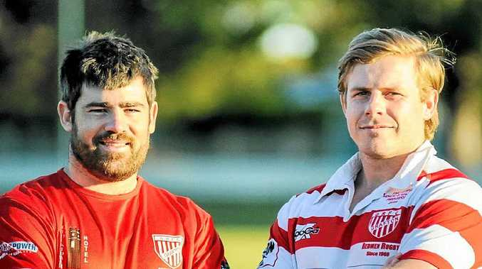 TOUGH ASSIGNMENT: Grafton Redmen centres Keaton Ingram and Tom Ellem will be up against two Samoans who recently signed for Bangalow in Far North Coast Ruby Union. PHOTO: GARY NICHOLS
