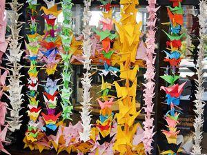 Origami cranes for Hiroshima and Nagasaki
