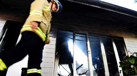 GUTTED: The occupant lost a 'lot of family history and treasures' when their home in Kingsley Lane, Byron Bay, was destroyed by fire yesterday morning.