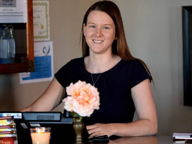 CYCLONE CHALLENGES: Denison Boutique Hotel manager Samantha Cook.
