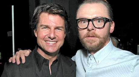 Tom Cruise and Simon Pegg in Las Vegas.