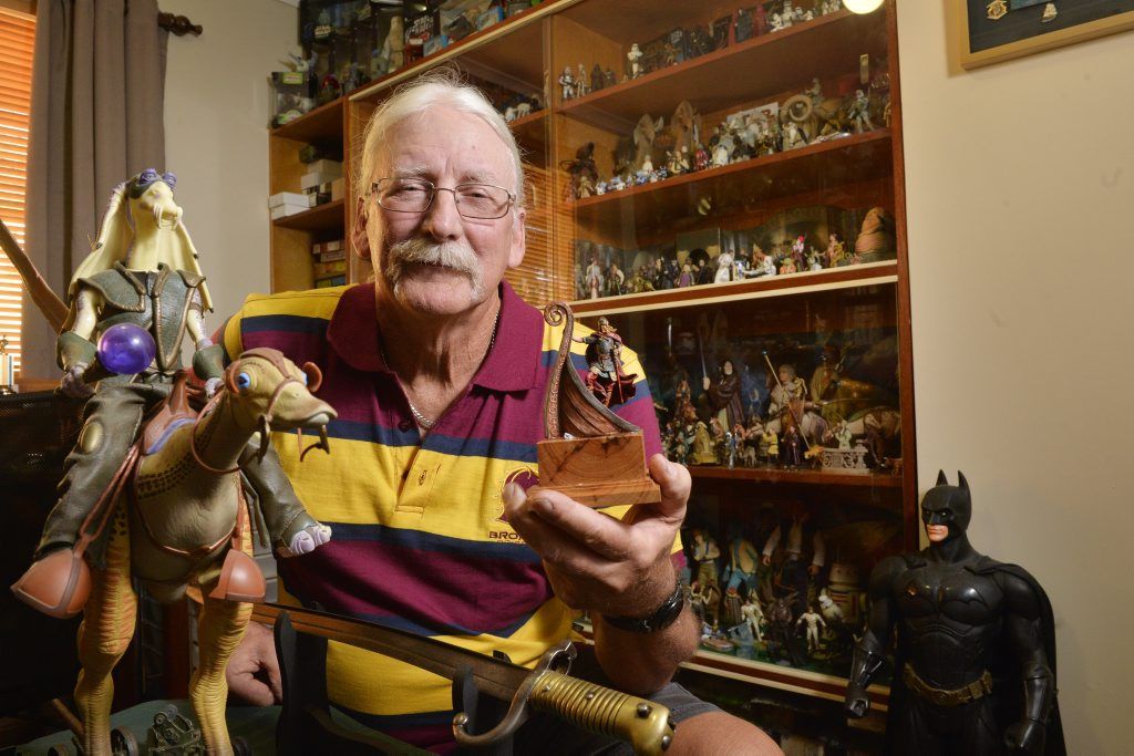 Exhibitor in the Model Hobbies Expo, Steve Kelb. Photo Inga Williams / The Queensland Times