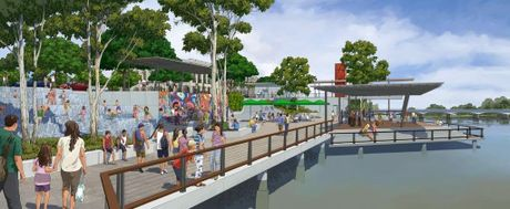 The artist's impression for Rockhampton Regional Council's riverbank development. Photo contributed.