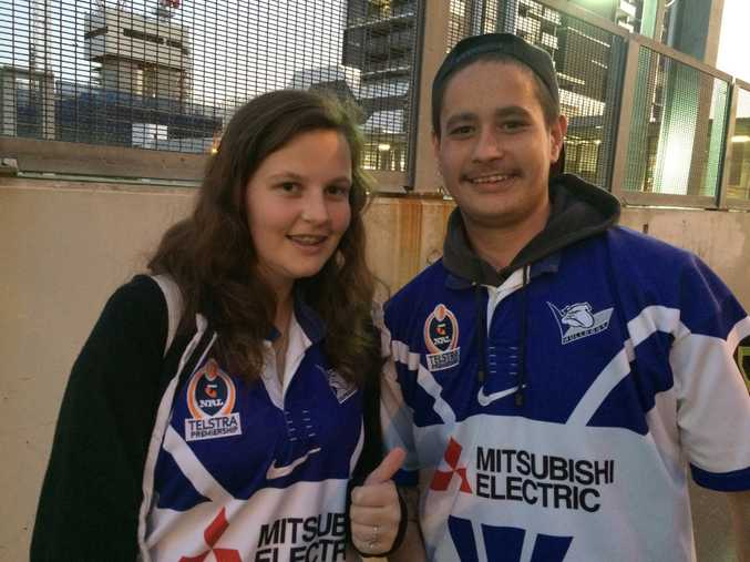Bulldogs fans Rachel Barker and James Beazlie.