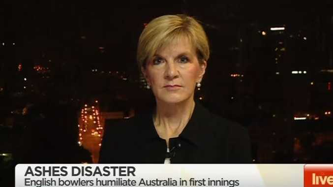 Foreign Minister Julie Bishop weighs in on whether she can help our underperforming cricketers.