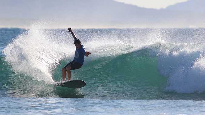 Former Australian champion Dane Pioli scored a 1750 and a 17.60 in his two Australian Surf Festival heats at Arrawarra Headland.