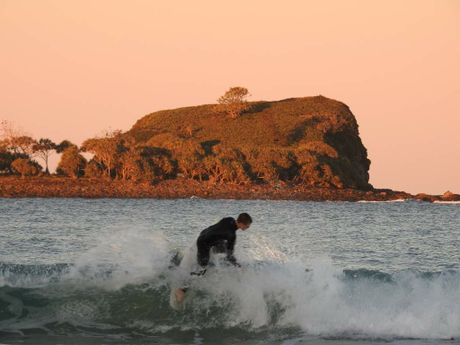 Surfing and perfect winter weather go together at Mudjimba Island.