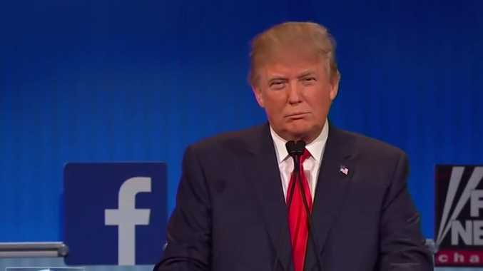 Donald Trump during the first Republican debate of 2016 for presidential hopefuls