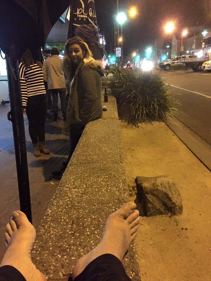 Nat Spary has pledged to go barefoot for the remainder of the Homeless for a Week challenge