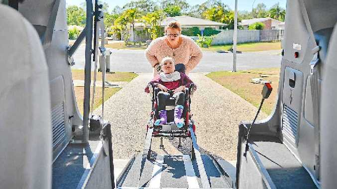LIFE-CHANGER: Michelle and Shontae Denniss's lives will be much easier with a new car with wheelchair access.