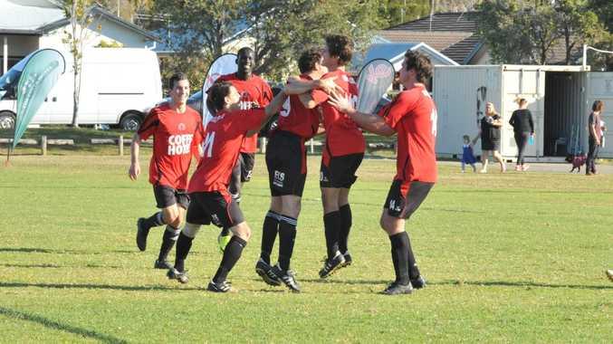 Football: CCUFC Lions v Urunga at McLean St Oval. 09 August 2015. Photo David Barwell / Coffs Coast Advocate