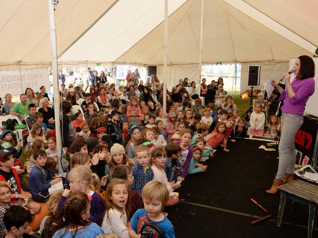 HAPPY DAYS: Sunday was children's day at the Byron Bay Writers festival.