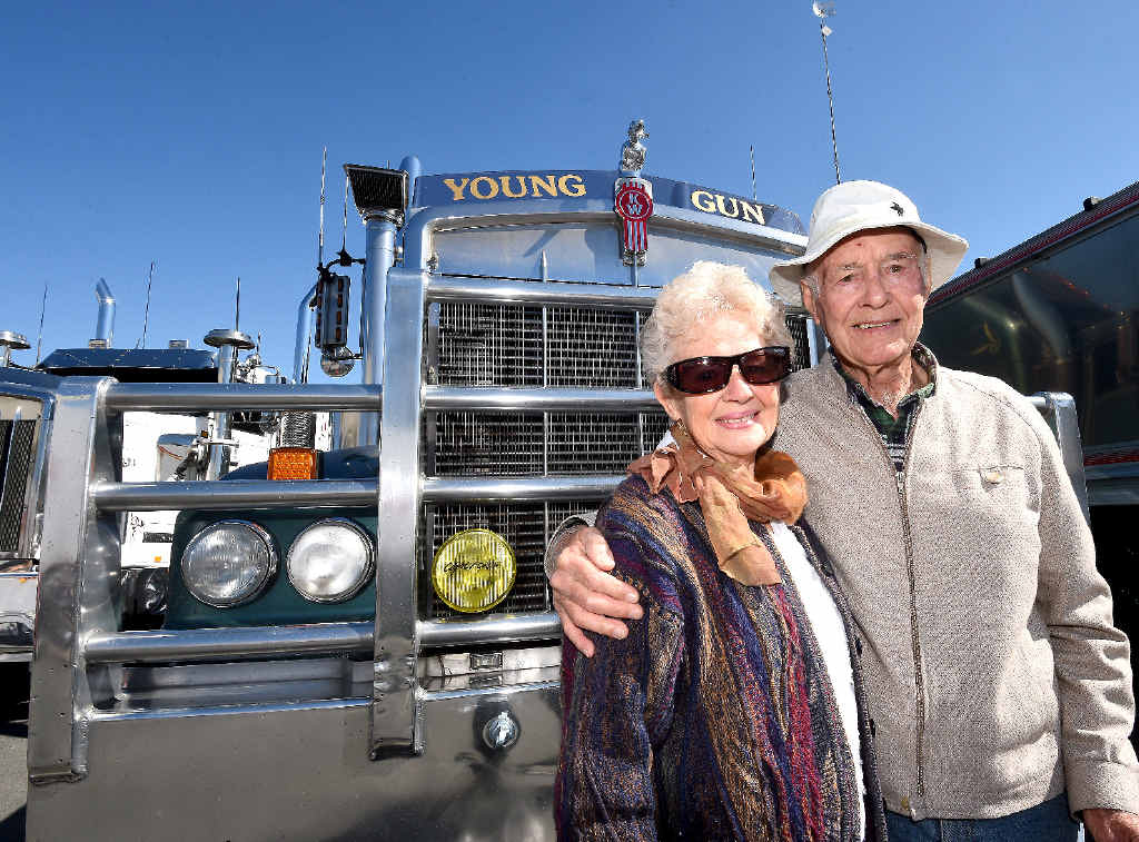 Shirley Wheatley and Fred Ind, of Casino, enjoy the Haultech Casino Truck Show.