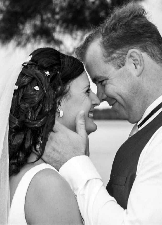 COMMITTED: Meaghin and Scott after taking their wedding vows.