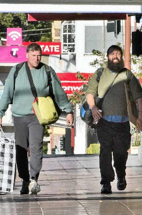 HOMELESS: Jon Martlew (left) and Nat Spary spent their last night homeless sleeping on Margaret St.