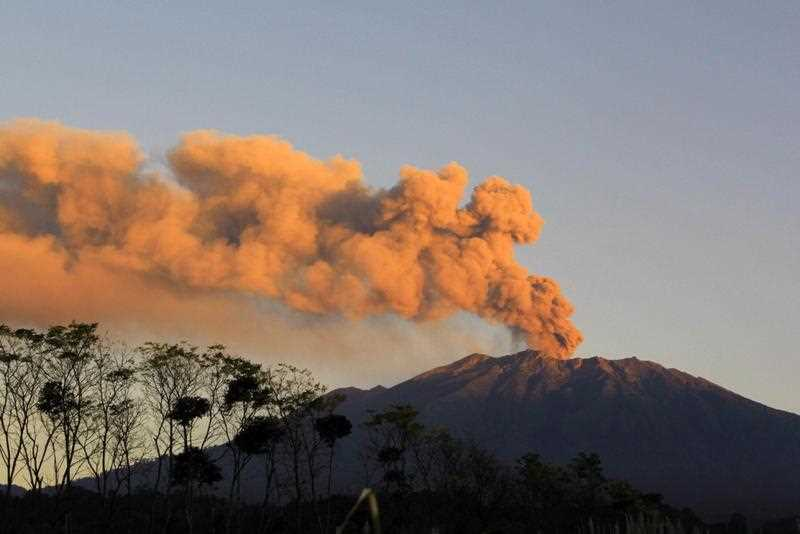 Authorities are monitoring increasing activities of Mount Raung after the volcano earlier erupted in February, but volcanic materials did not flow out of its crater, which has a diameter of around one kilometer.