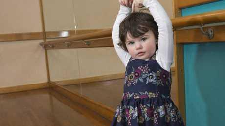 Sophia Fox during baby ballet classes