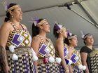 Te Whanau Tautoko Kapa Haka perform on stage.