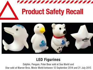 Theme parks' LED figurines recall