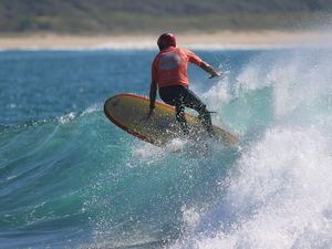 Longboard surfing's elders show how it's done