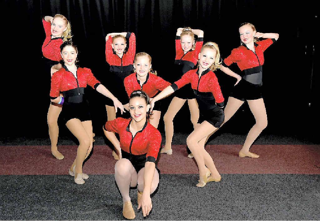Intermediate performers from Coolum Beach School of Dance perform at last year's Maryborough Eisteddfod.