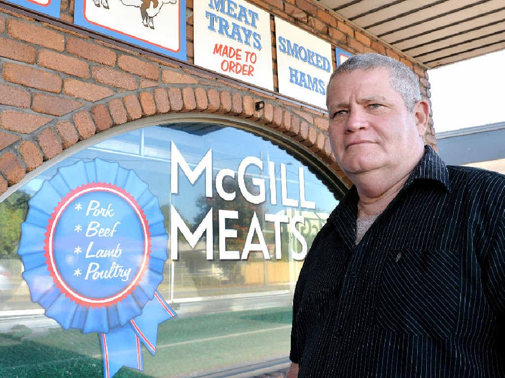 CHEAP, EASY SALE: George Radley wants to sell his lease at McGill Meats for just $1.