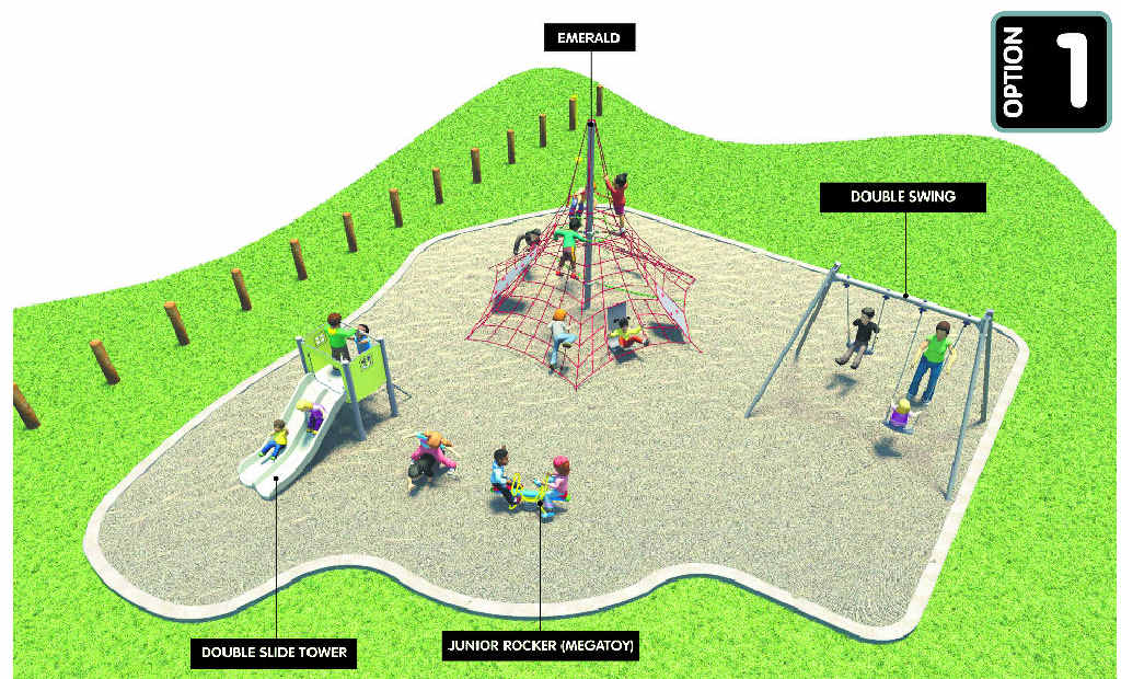 Artist's impressions of a playground to be built in Elizabeth Park, North Rockhampton.