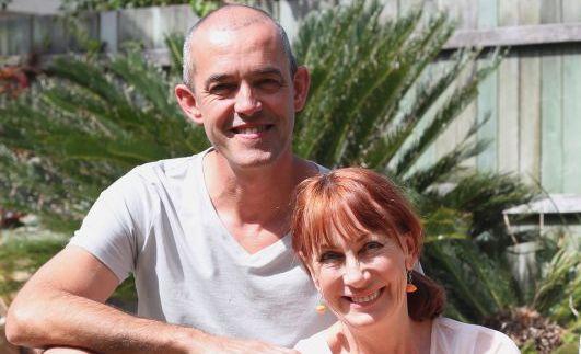 Set designer Gilbert Rousset with director Jennifer Rousset.