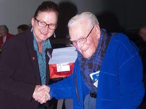 Seniors computing club acknowledges Herb's century