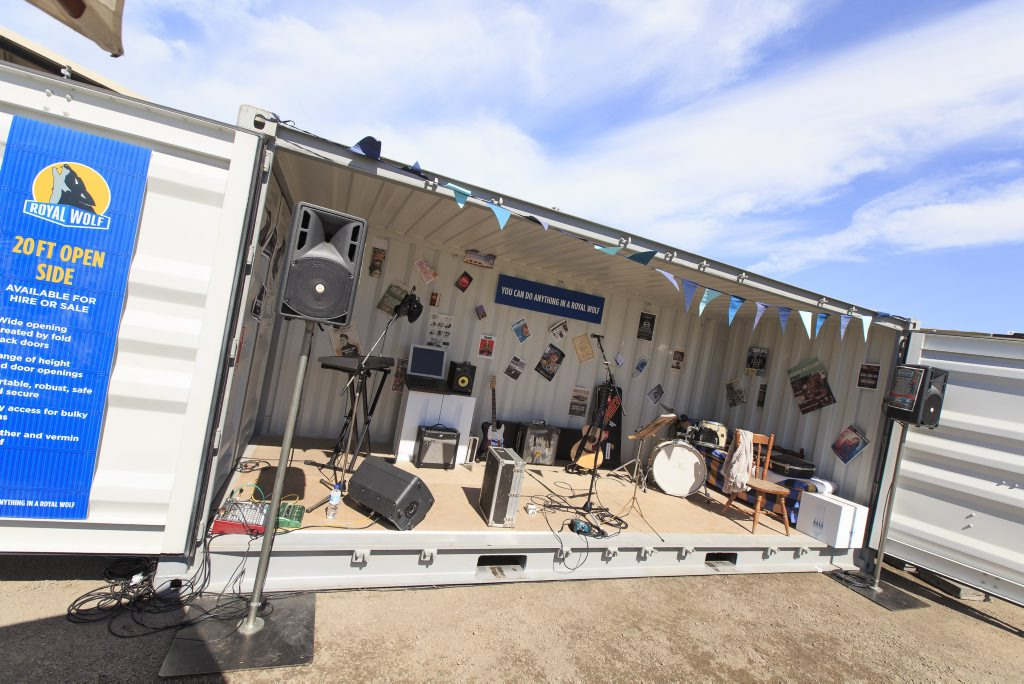 Royal Wolf shipping container stage. Photo Contributed