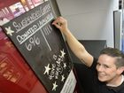 FULL OF BEANS: Cafe manager Sam Bush has set up a suspended coffees system at the Meeting Place Cafe.