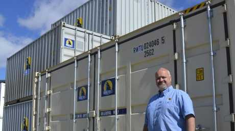 Royal Wolf Toowoomba senior sales executive Stephen Thompson at the company's new Toowoomba depot.