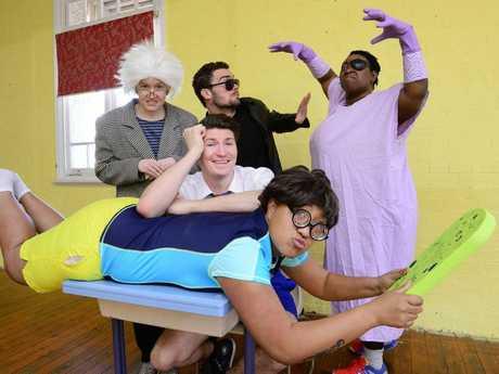FAMILY SHOW: Cast of theatre production, Eric Vale Epic Fail.