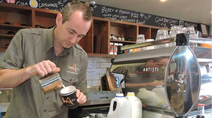 WATCH THIS SPACE: Artisti Coffee Roaster founder and owner Luke Floyd is brewing up big plans for his business.