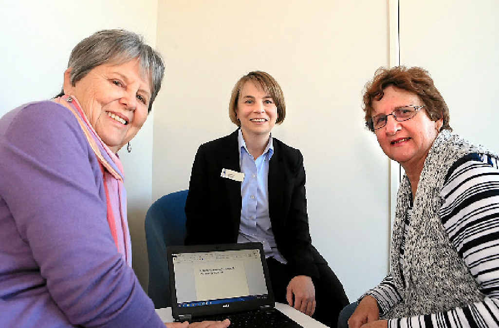 EQUALITY: Judith Raxworthy (left) and Pat Bragge (right) from the Cochlear Implant Support Group with Joanne Edgar, manager of Aus Hearing, are ready for the new technology that will help the hearing impaired on the Fraser Coast
