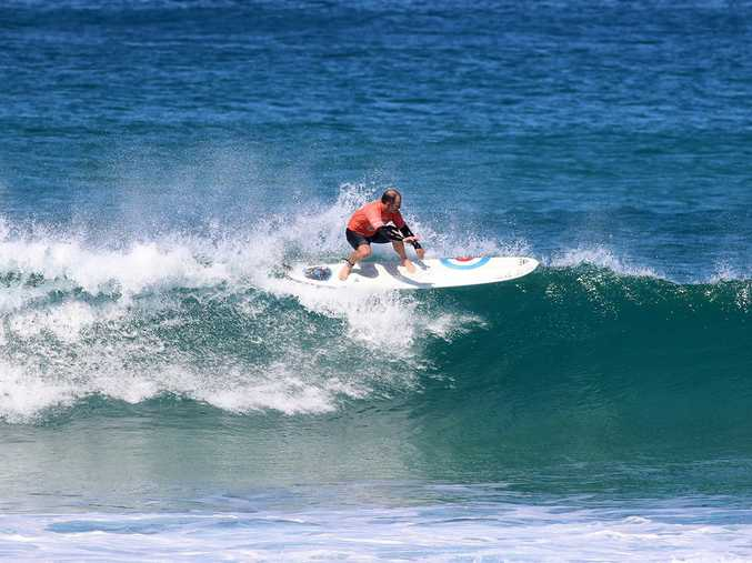 Reigning champion Jason Livingston produced another elite level display of longboard surfing during the bcu Australian Surf Festival at Gallows Beach.