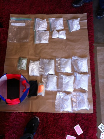 Photographs taken by police during a massive synchronised raid on what authorities suspect is part of a major operation to distribute illegal narcotics