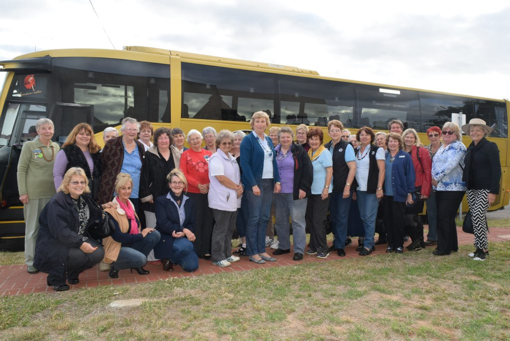 Members of the QCWA state executive gather in Roma for the next leg of a seven-day tour of drought-stricken towns and communities in western Queensland.