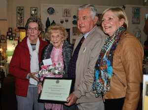 Retiring member honoured by Warwick Rose City Probus Club