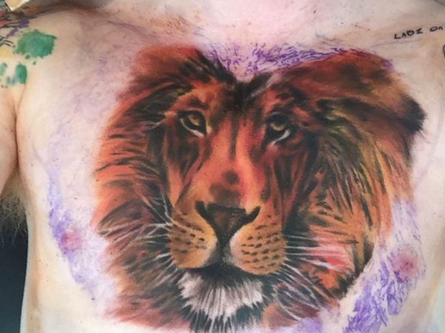 Ed Sheeran's new lion tattoo