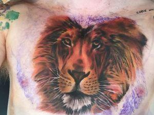 Ed Sheeran gets lion tattoo