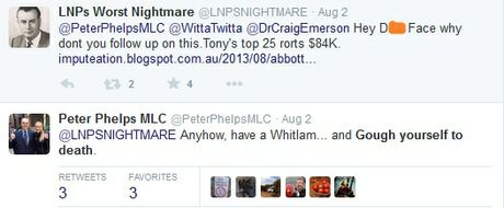 NSW parliamentary whip Peter Phelps is at it again.