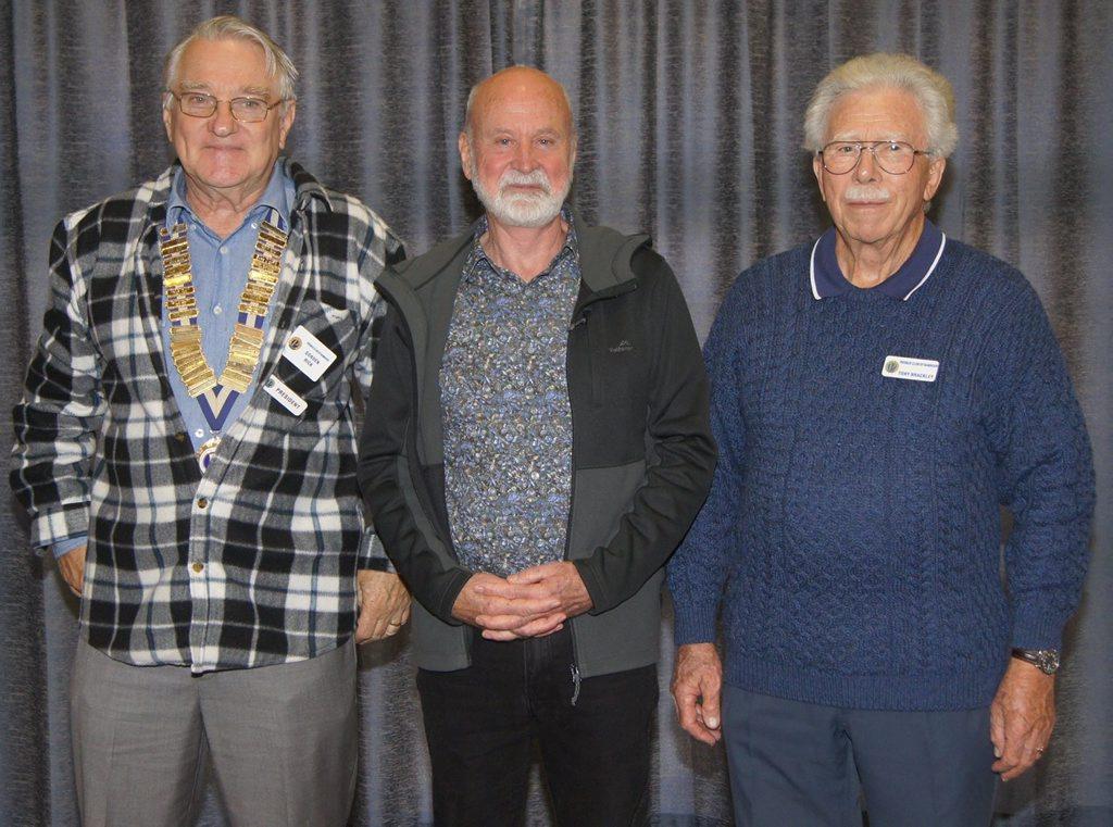 President Gordon Rick, Guest Speaker Joel McCreath and Tony Brackley